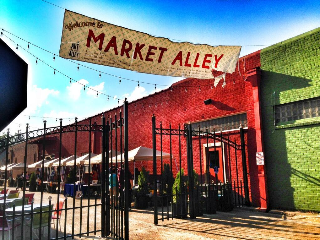 Market Alley in Cleveland, Mississippi. One of numerous community-related aspects of Mississippi's Creative Economy.